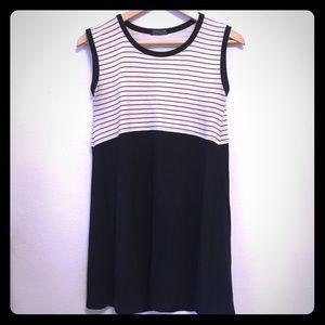 Vintage babydoll mini sleeveless striped dress